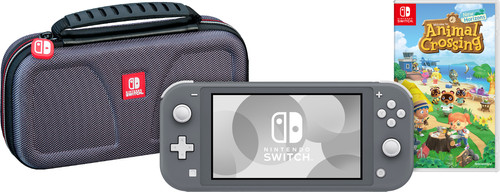 Game onderweg pakket - Nintendo Switch Lite Grijs Main Image