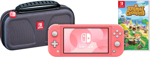 Game onderweg pakket - Nintendo Switch Lite Koraal Main Image