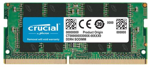 Crucial 16 Go 2666 MHz DDR4 SODIMM Dual Rank (1 x 16 Go) Main Image