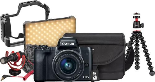 Canon EOS M50 Zwart Vlogkit Main Image