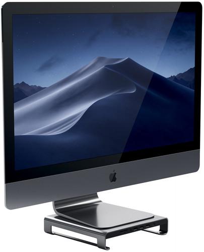 Satechi Aluminum iMac Monitor Standaard Hub Space Grey Main Image