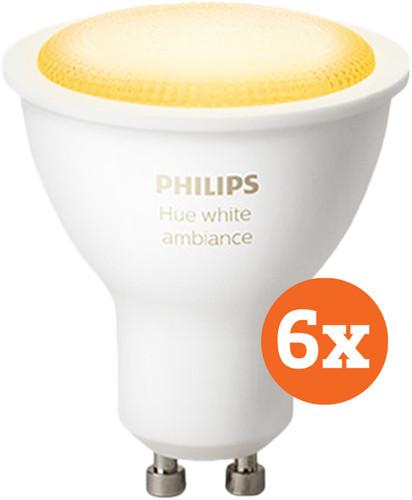 Philips Hue White Ambiance GU10 Bluetooth Lot de 6 Main Image