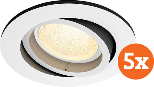 Philips Hue Centura Recessed Spot Light White & Color round white 5-pack Main Image