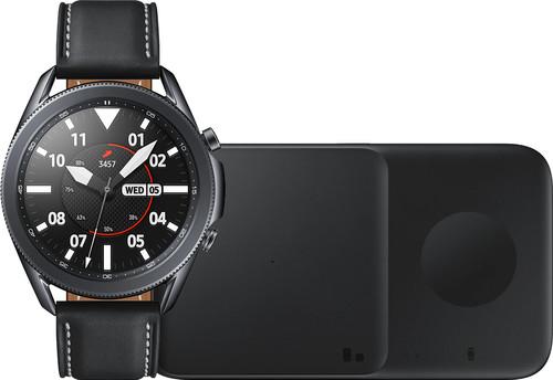 Samsung Galaxy Watch3 Noir 45 mm + Samsung Chargeur Sans Fil DUO Pad 9W Noir Main Image