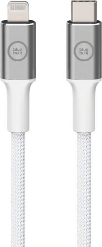 BlueBuilt USB-C to Lightning Cable 1.5m Nylon White Main Image