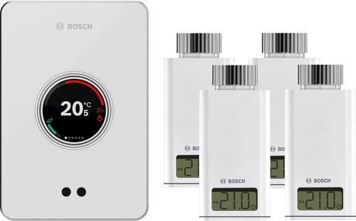 Bosch EasyControl CT200 wit + 4x Bosch EasyControl Smart Radiator Thermostat RT10-RF Main Image