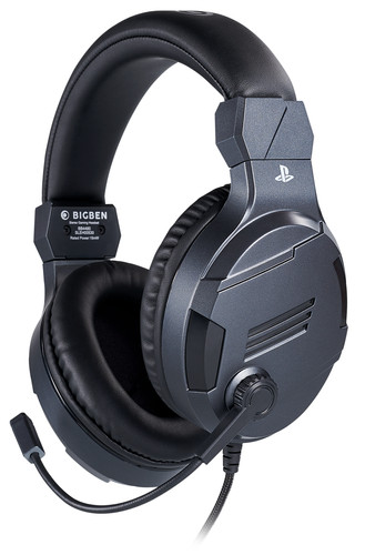 Bigben Official Licensed PS4 & PS5 V3 Stereo Gaming Headset Titanium Main Image