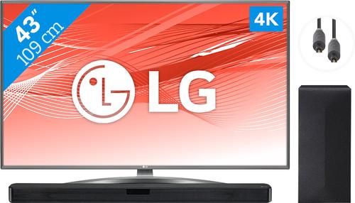 LG 43UN81006LB + Soundbar + Optische kabel Main Image