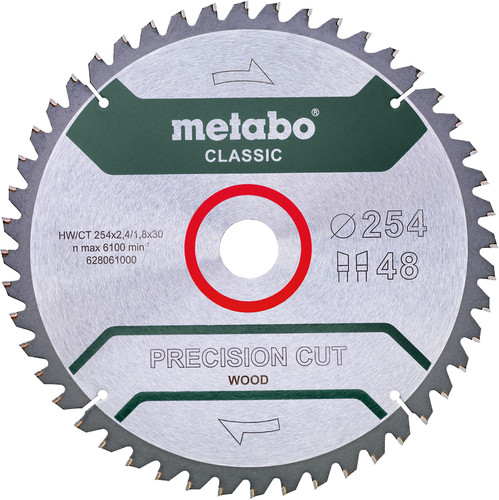 Metabo Zaagblad Precision Cut Wood 254x30x1,8mm 48 T Main Image