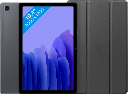 Samsung Galaxy Tab A7 64GB Wifi Grijs + Just in Case Book Case Zwart Main Image