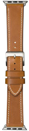 DBramante1928 Copenhagen Apple Watch 42/44 mm Leren Bandje Bruin/Zilver Main Image