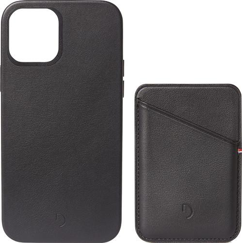 Decoded Apple iPhone 12 / 12 Pro Back Cover MagSafe Magneet Leer Zwart + Leren Kaarthouder Main Image