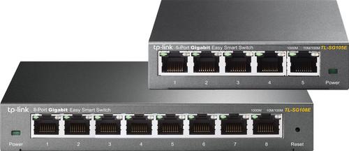 TP-Link TL-SG108E + TP-Link TL-SG105E Main Image
