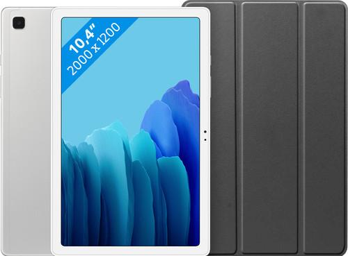 Samsung Galaxy Tab A7 32GB Wifi Zilver + Just in Case Book Case Zwart Main Image
