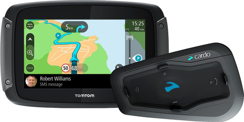 TomTom Rider 50 WE Zwart + Cardo Scala Rider Freecom 2 Plus Single Main Image
