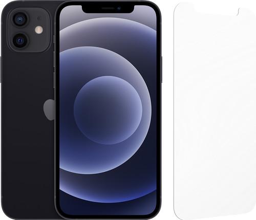Apple iPhone 12 64GB Zwart + InvisibleShield Glass Elite Screenprotector Main Image