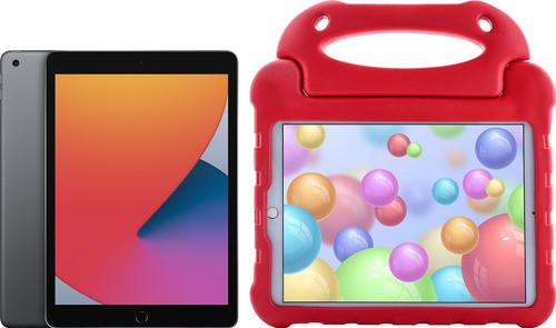 Apple iPad (2020) 128GB WiFi Space Gray + Kids Cover Red Main Image