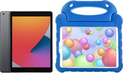 Apple iPad (2020) 128GB WiFi Space Gray + Kids Cover Blue Main Image