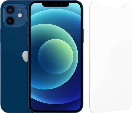 Apple iPhone 12 128GB Blauw + InvisibleShield Glass Elite Screenprotector Main Image