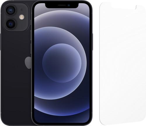 Apple iPhone 12 mini 128GB Zwart + InvisibleShield Glass Elite Screenprotector Main Image