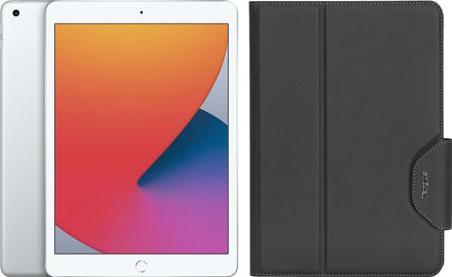 Apple iPad (2020) 10.2 inch 32 GB Wifi Zilver + Targus VersaVu Book Case Zwart Main Image