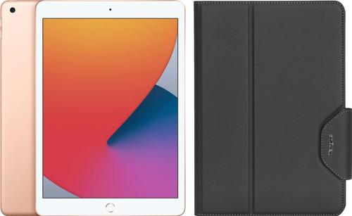 Apple iPad (2020) 10.2 inch 32 GB Wifi Goud + Targus VersaVu Book Case Zwart Main Image