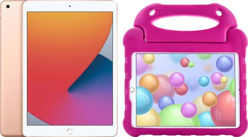 Apple iPad (2020) 10.2 inch 32 GB Goud + Kinderhoes Roze Main Image