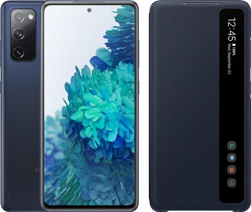 Samsung Galaxy S20 FE 128GB Blauw 4G + Clear View Book Case Blauw Main Image