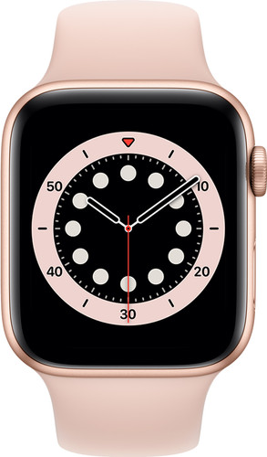 Apple Watch Series 6 4G 44mm Goud Aluminium Roze Sportband Main Image