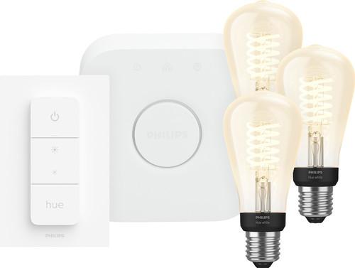Philips Hue Decoratieve Edisonlamp Warmwit Licht E27 Bluetooth 3-Pack Startpakket Main Image