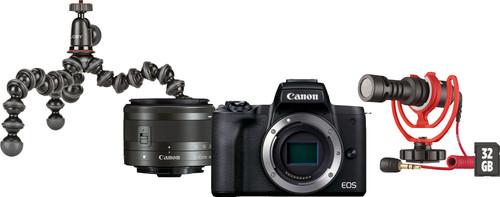 Canon EOS M50 Mark II Zwart Vlogger Kit Main Image