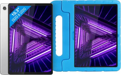 Lenovo Tab M10 Plus (2de generatie) 64GB Wifi Zilver + Just in Case Kinderhoes Blauw Main Image