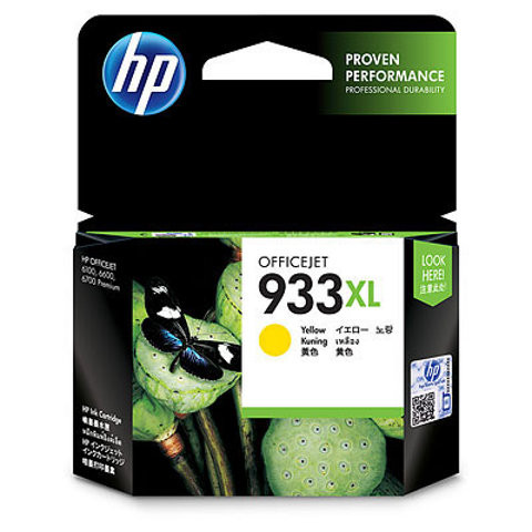 HP 933XL Officejet Ink Cartouche d'encre Jaune CN056AE Main Image