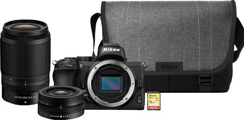 Nikon Z50 + 16-50mm + 50-250mm + Tas + 16GB geheugenkaart Main Image