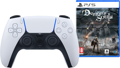 Sony PlayStation 5 DualSense draadloze controller + Demon's Souls Remake PS5 Main Image