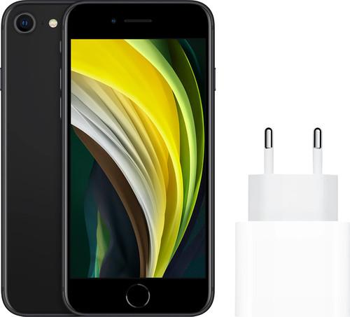 Apple iPhone SE 128GB Zwart + Apple Usb C Oplader 20W Main Image