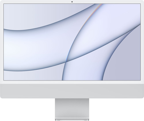"Apple iMac 24"" (2021) 16GB/256GB Apple M1 met 7 core GPU Zilver AZERTY Main Image"