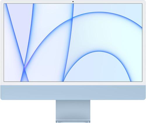 """Apple iMac 24"""" (2021) MGPK3FN/A 8GB/256GB 8 core GPU Blauw AZERTY Main Image"""