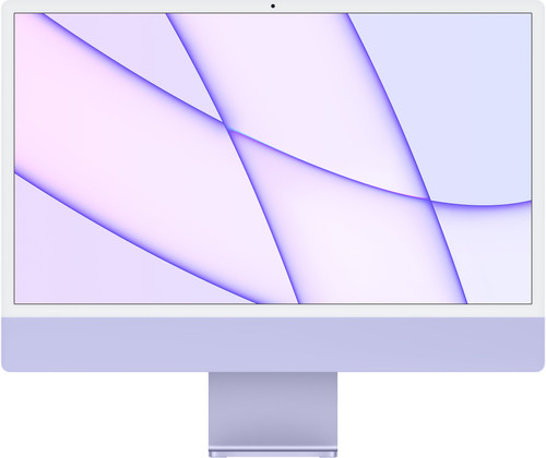 "Apple iMac 24"" (2021) 8GB/512GB Apple M1 met 8 core GPU Paars AZERTY Main Image"