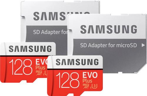 Samsung MicroSDXC EVO Plus 128GB + SD Adapter Duo Pack Main Image
