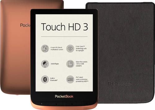 PocketBook Touch HD 3 Koper/Zwart + PocketBook Shell Book Ca Main Image