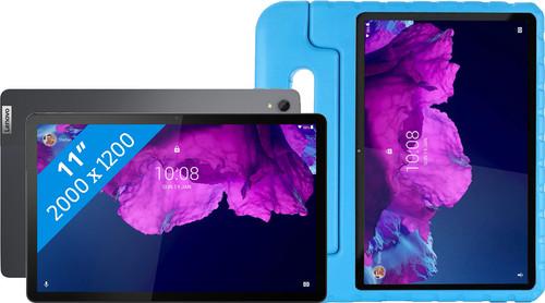 Lenovo Tab P11 128GB Wifi + 4G Grijs + Just in Case Kinderhoes Blauw Main Image