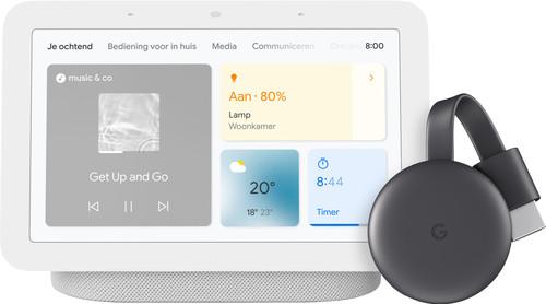 Google Chromecast 3 + Nest Hub 2 Chalk Main Image
