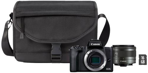 Canon EOS M50 Mark II Zwart Starterskit - EF-M 15-45mm + Tas + Geheugenkaart Main Image
