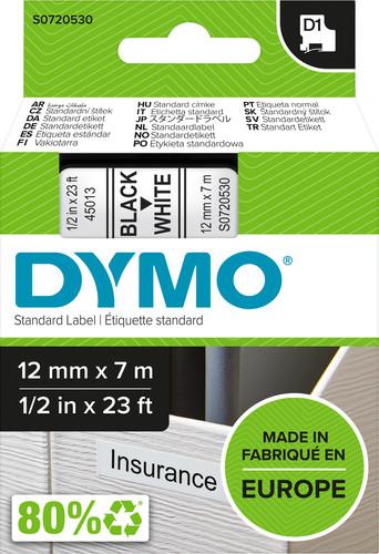 DYMO Authentieke D1 labels Zwart-Wit (12 mm x 7 m) Main Image
