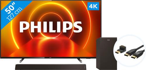 Philips 50PUS7805 - Ambilight + Barre de Son + Câble HDMI Main Image
