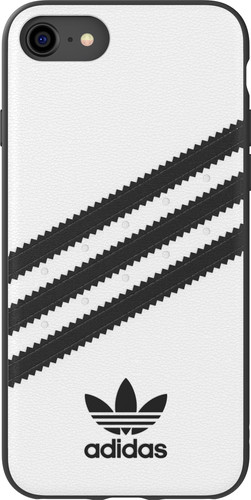 Adidas Apple iPhone SE/8/7/6s/6 Back Cover Leer Wit/Zwart Main Image