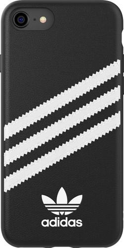 Adidas Apple iPhone SE/8/7/6s/6 Back Cover Leer Zwart/Wit Main Image