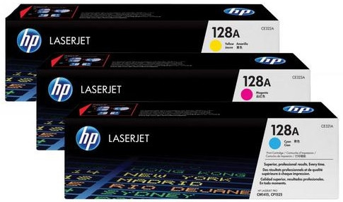 HP 128A LaserJet Toner Tri-pack (CF371AM) Main Image