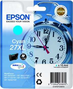Epson 27XL Cartridge Cyan C13T27124010 Main Image